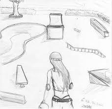 skate park sketch by batman the blind on deviantart