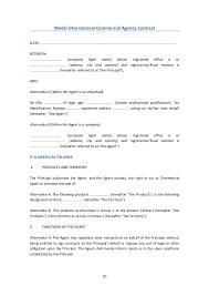 commercial model job description contracts models