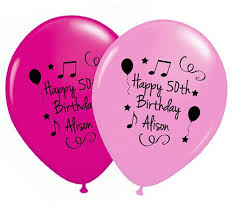 personalised birthday balloons your name and age personalised balloons pack of 50 pink birthday