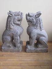 marble foo dogs marble resin garden large pair of temple foo dogs statue sculpture