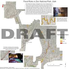 Map Of National Parks In Utah by Flood Risks In Zion National Park Utah U2013 Guerrilla Cartography