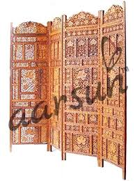 aarsun hand carved wooden partition screen in sheesham wood room