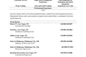 Cook Resume Sample by Prep Cook Resume Objective Reentrycorps