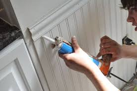 Install Wainscoting Over Drywall How To Install Beadboard Wainscoting One Project Closer
