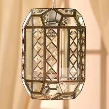 tiffany glass pendant lights bevelled glass lantern pendant light clear
