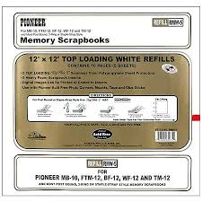 scrapbook inserts pioneer memory scrapbooks top loading refill pages 12 inch x 12