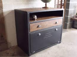 meuble commode chambre commode bois métal industriel micheli design