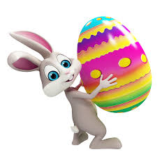 easter bunny with colorful egg transparent png clipart gallery