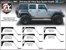wrangler jeep 4 door 2016 jeep wrangler graphics wrangler stripes u0026 jk graphics u2013 streetgrafx