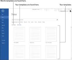 format download in ms word 2013 how to use templates in word 2013 dummies