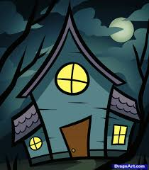 how to draw a haunted house for kids step by step halloween