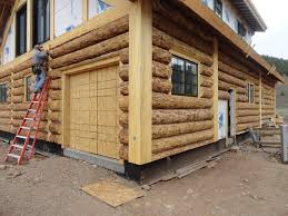 quirky natural log home construction that has wooden floor and