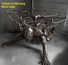 scrap metal filing cabinet scrap metal art furniture alien table spiderman table predator in