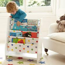 Fabric Sling Bookshelf Sling Bookcase With Rainbow Star Canvas Rainbow Star Collection