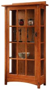 Mission Style Bookcase Mission Curio Cabinets Foter