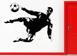 wall sticker vinyl decal soccer football player sport decor for wall sticker vinyl decal soccer football player sport decor for men z1067