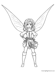 tinkerbell u2013 zarina 01 coloring page coloring page central