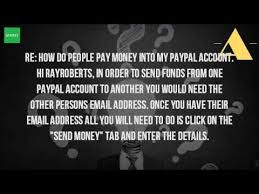 how does someone make a payment to my paypal account youtube
