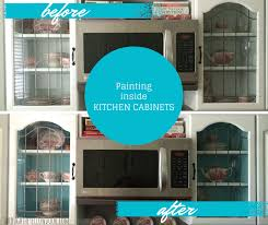 what type of paint for inside kitchen cabinets kitchen cabinets project painting the inside for a pop of