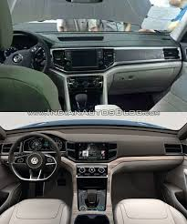 volkswagen crossblue vw teramont vs vw crossblue concept interior dashboard indian