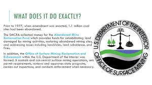 What Does The Interior Department Do Surface Mining Control And Reclamation Act Of 1977 Rosemary
