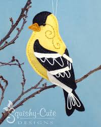 goldfinch sewing pattern pdf backyard bird stuffed ornament
