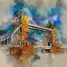 paint places london famous places london bridge by diana van painting by