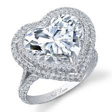 heart shaped diamond engagement ring heart shaped engagement rings neil heart shapes and ring