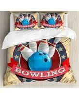 Bowling Party Decorations Duvet King Sports Bedding Sets Bhg Com Shop