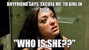 Who Me Meme - boyfriend says excuse me to girl in club who is she funny