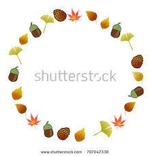 frames ornaments backgrounds fallen leaves maple stock vector