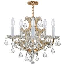 Maria Theresa 6 Light Crystal Chandelier Crystorama Maria Theresa 5 Light Gold Crystal Chandelier Free