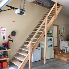 sliding attic stairs rail new folding attic stairs with handrail