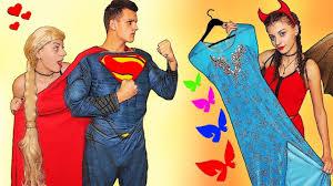 evil elsa stolen costumes w superman save frozen elsa u0026 funny