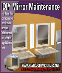 Commercial Bathroom Mirror - diy mirror maintenance how to save your facility money