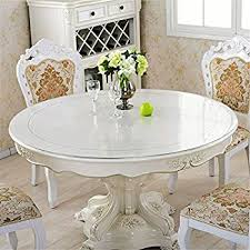amazon com etechmart round thicken clear pvc tablecloth table