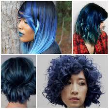 sparkling dark blue hair color for 2017 new hair color ideas