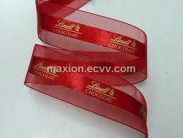customized ribbon satin center organza ribbon with hot st print purchasing
