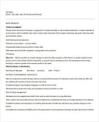 Bank Manager Resume Samples by Best Banking Resume Templates 31 Free Word Pdf Documents