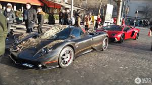 pagani dealership spotted new and unique pagani zonda c12 f roadster