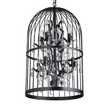Bird Cage Chandelier Oil Rubbed Bronze Bird Cage 8 Light Crystal Chandelier
