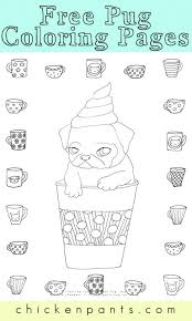 pug puppy coloring pages free pug puppy coloring