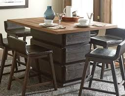 homelegance rochelle counter height dining table dark brown