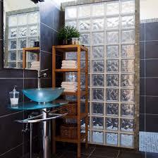 Glass Tiles Bathroom Ideas Bathroom With Glass Tiles Instead Of A Shower Curtain Or Screen