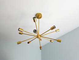 Sputnik Light Fixture by Elsie Chandelier Large Modern Brass Or Chrome Sputnik Chandelier