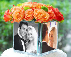 Photo Cubes Centerpieces by Food Becoming The Gassetts