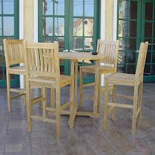 unfinished dining room tables shop anderson teak avalon 5 piece unfinished teak bistro patio