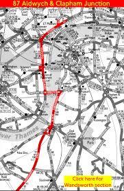 London Bus Map London Bus Route 87