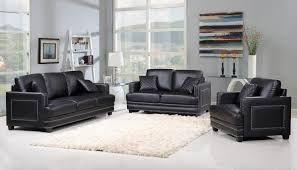 Silver Table Ls Living Room Meridian Furniture 655bl Ls Ferrara Black Leather Loveseat Silver