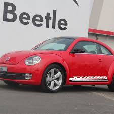 volkswagen beetle race car pair of side skirt racing stripe sticker for volkswagen beetle